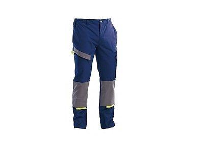 Pantalone da lavoro Linea Powerful colore blu/grigio