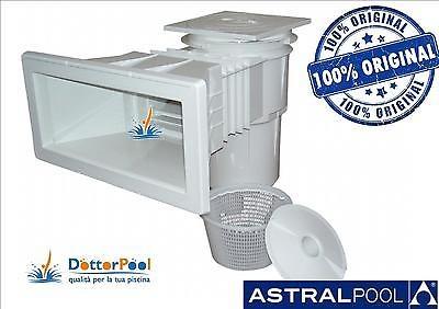 SKIMMER ASTRAL PER PISCINA 422 X 200 COPERCHIO QUADRATO IMPIANTO ASTRALPOOL