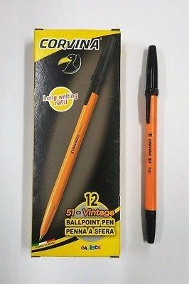 4 scatole di penne Corvina 51 Vintage(48 pz)  color  Nero