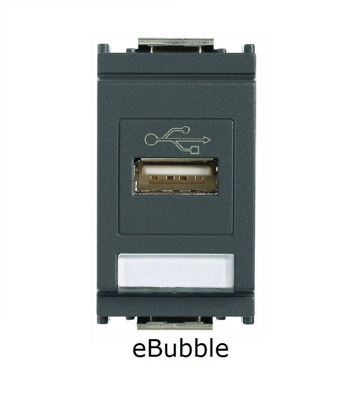 VIMAR IDEA 16368 PRESA USB GRIGIO