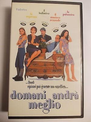 DOMANI ANDRA' MEGLIO VHS USATA EX NOLEGGIO