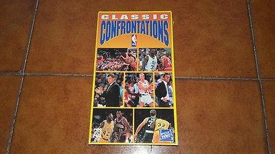 VIDEOCASSETTA VHS NBA CLASSIC CONFRONTATIONS MAGIC JOHNSON LARRY BIRD BASKET 990