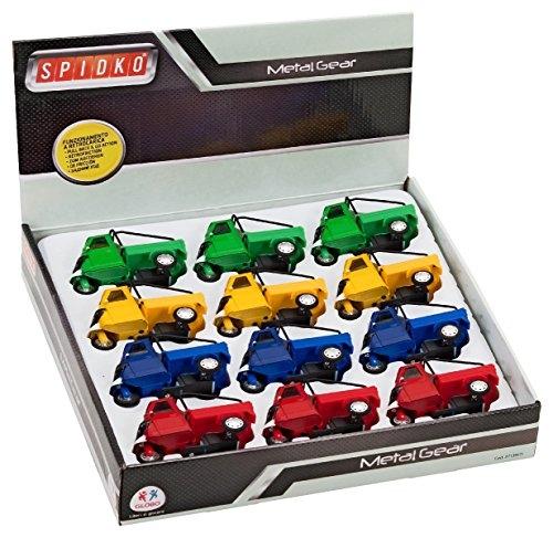 Globo Giocattoli globo–Spidko 371394colori metallo pressofuso Moto Auto in una scatola (12)