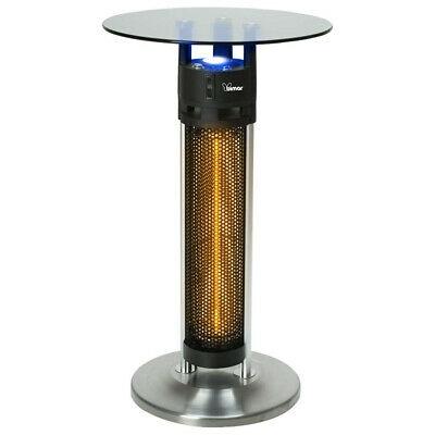 Tavolino Bistrot con Stufa Riscaldatore Esterno e Luce a LED Fungo Totem 1600W