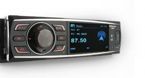 """AUTORADIO PHONOCAR VM051 CON SCHERMO DA 3"""" CON LETTORE CD MP3 USB SD DVD E BLUETOOTH FRONTALINO ESTRAIBILE"""