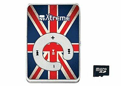 Xtreme 27624 Lettore File Audio Uk Flag con Auricolari, Cavo Mini USB e Mem Jq0P