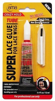 BMB CRAZY HOLD SUPER LACE GLUE TUBE FOR LACE WIGS 0.4 Oz