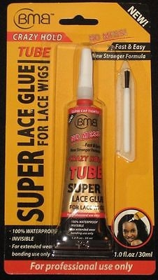 BMB Super Lace Glue for Lace Front Wigs Crazy Hold Tube 1 oz / 30 ml