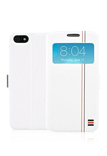 Fonex BOOKWTS862W Tecno Book Custodia a Libro per iPhone 5/5S/SE Bicolore Bianco/Grigio