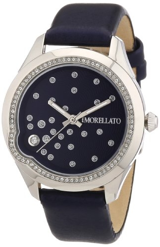 Morellato Time Women's Quartz Watch with Black Dial Analogue Display and Black Leather Bracelet R0151111503