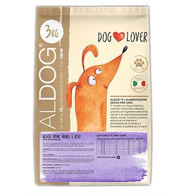 Crocchette Aldog Prime Maiale e Riso Mini 3 Kg Mangime Naturale per Cani