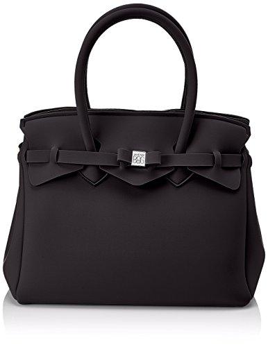save my bag Miss, Borsa a Mano Donna, Nero, 34x29x18 cm (W x H x L)