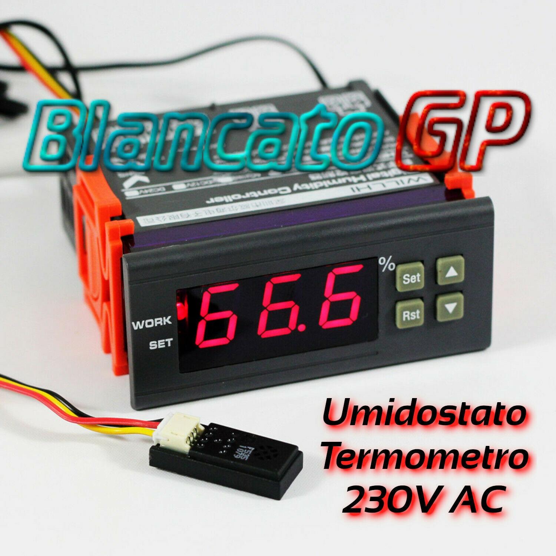 Regolatore Umidità UR aria Umidostato Digitale Programmabile 220V AC Igrometro