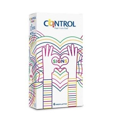 Control Signs Extra Lube Condoms Masculine - 6 Pieces