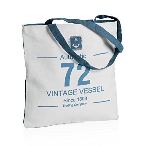 MONTEMAGGI Borsa in cotone bianco manici lunghi. Bellissima borsa da mare o da città dotata di cerniera. Dimensioni: 42x1x43 cm