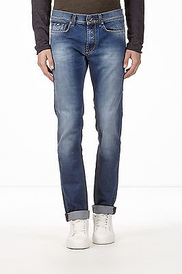 GAS ANDERS K W179 Pantaloni uomo jeans medio scuri con schiariture slim fit