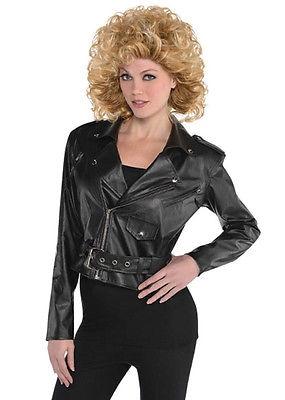 Ladies 1950s Cropped Leather Look Jacket