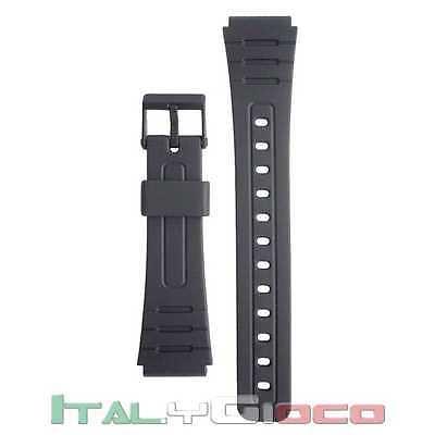 Cinturino Compatibile per Orologio Casio Resina Gomma Resina Strap Replace Nero