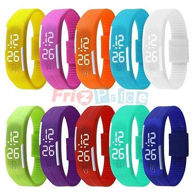 digitale nuovo Silicone Sport LED Regali bracciale orologio da polso donna uomoq