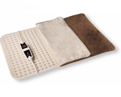 INVENTUM 47 x 37 cm Electric Thermo Therapy Heat Pad, Beige
