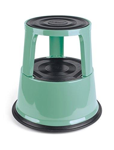 PAVO Premium Rolling Kick sgabello, metallo, vintage verde