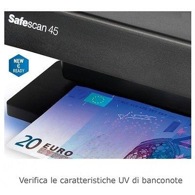 VERIFICATORE BANCONOVERIFICATORE BANCONOTE FALSE SAFESCAN 45TE FALSE SAFESCAN 45