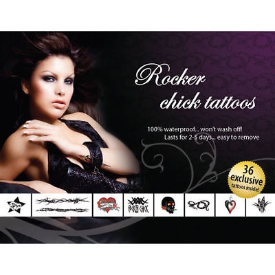 AdultBodyArt Ensemble de Tatouages Rocker Chick