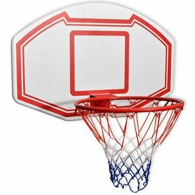 vidaXL Set Canestro da Basket 3 pz da Parete Tabellone Retina Pallacanestro