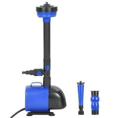vidaXL Pompa per Fontana 75 W 2600 L/h Sistema di Pompaggio Idraulico Laghetto
