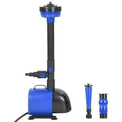 vidaXL Pompa per Fontana 110W 3000 L/h Sistema di Pompaggio Idraulico Laghetto