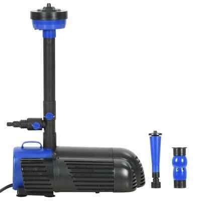 vidaXL Pompa per Fontana 85 W 3000 L/h Sistema di Pompaggio Idraulico Laghetto