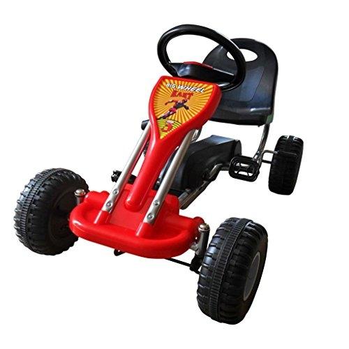 vidaXL Red Pedal Go-Kart Ride-On Car Kids