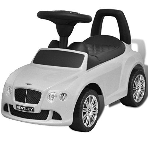 vidaXL Bentley Foot-Powered Kids Car White
