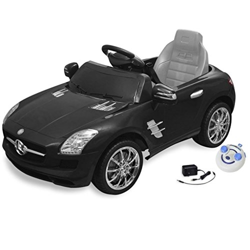 vidaXL Electric Ride-on Car Mercedes Benz SLS AMG Black 6 V Remote Control