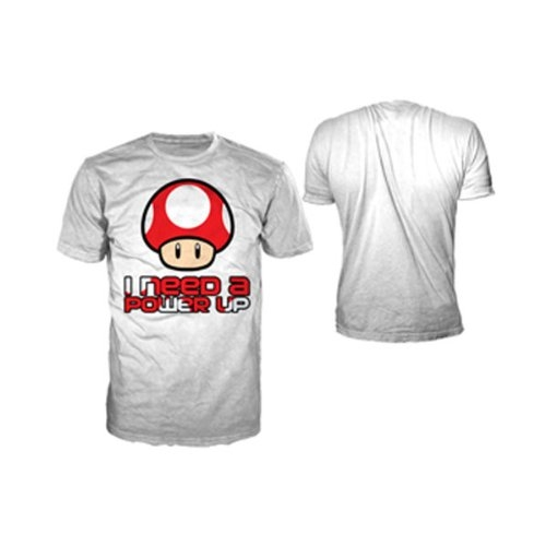 Nintendo T-Shirt -XL- Need a Power Up, weiss [Edizione: Germania]