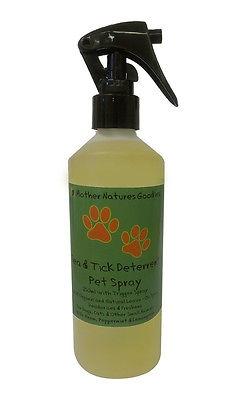 Organic Flea & Tick Deterrent Pet Spray-Dog Cat Guinea Neem Natural Aromatherapy