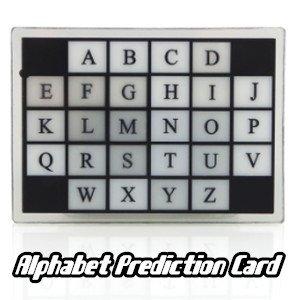 Previsione lettere alfabetiche, giochi di prestigio,trucchi magia
