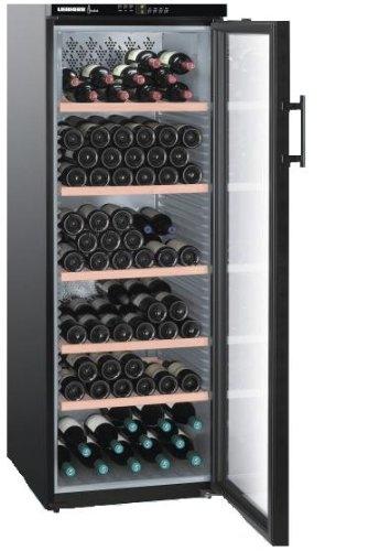 Liebherr WTB 4212 Freestanding Black 200bottle(s) A wine cooler - Wine Coolers (Freestanding, Black, Stainless steel, 6 shelves, 1 door(s), Black)
