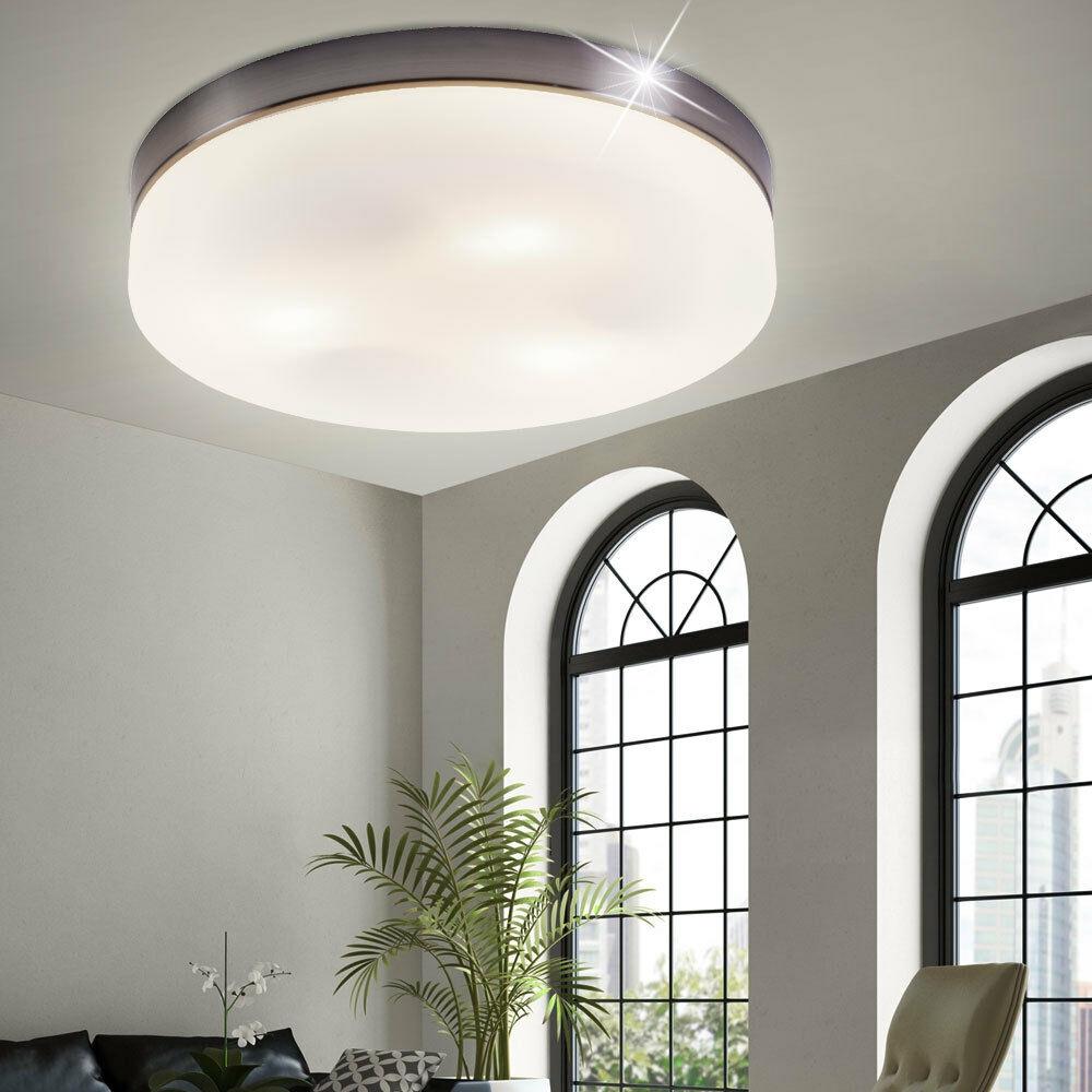 Luxus opal Glas rund Decken Beleuchtung Lampe Gäste Wohn Zimmer Lampe Big Light