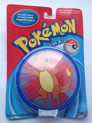 Pokemon Push On / Push Off Night Light Charmander Official Nintendo Product 2000