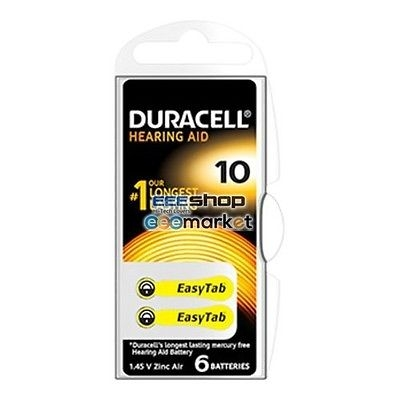 Duracell Zinc Air Hearing Aid 10 1.4V, Batterie pile/batterie 96077559