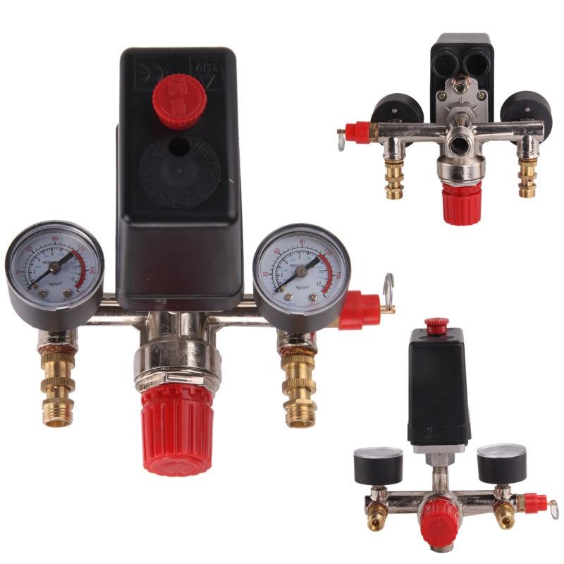 Pressostato Valvola Controllo Compressore d'aria con regolatore & Value & Gauge