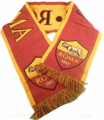 AS ROMA official merchandise SCIARPA SCARF jacquard nuova sealed Gazzetta 1d9faf093750