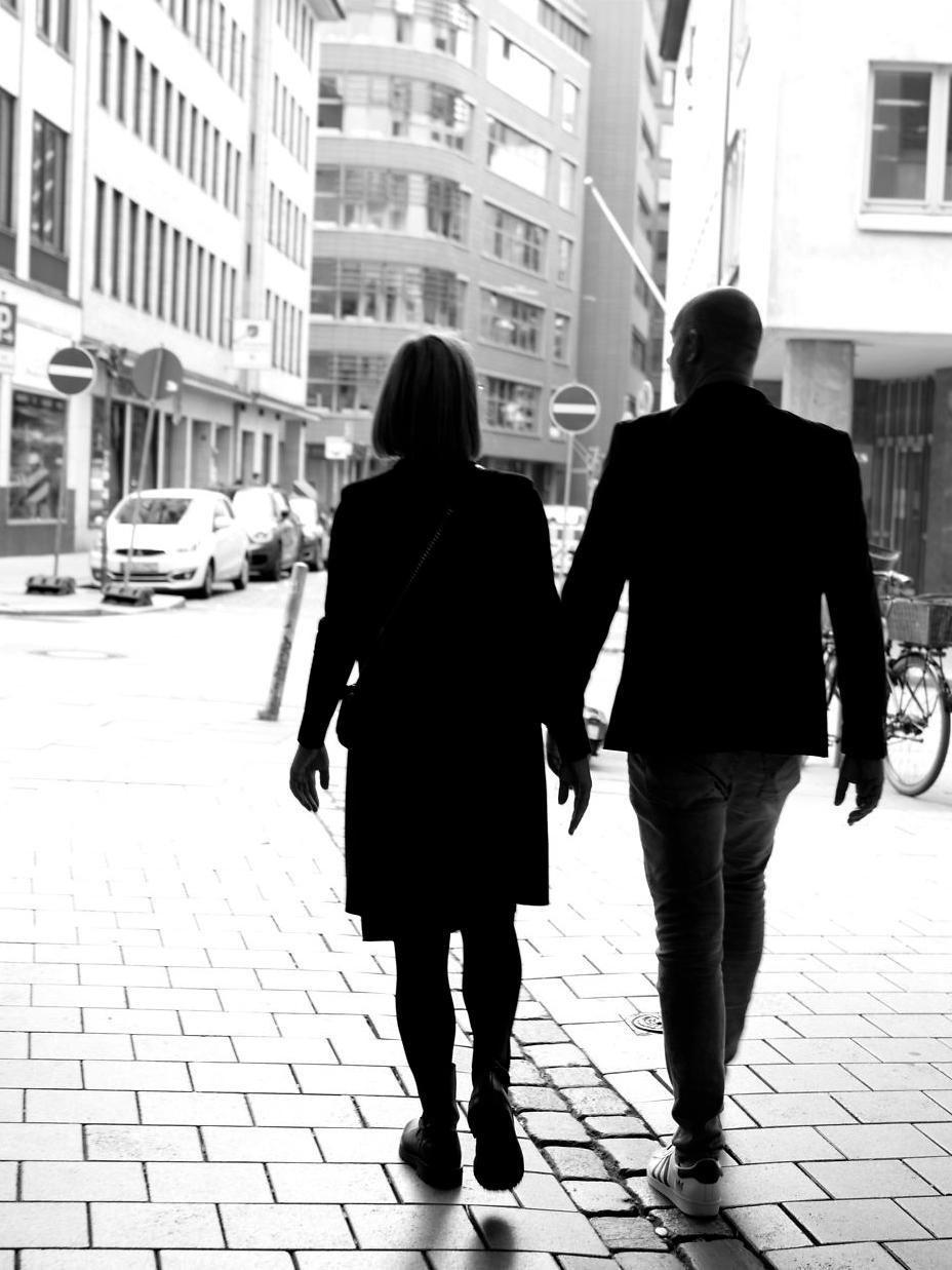 Parret der går