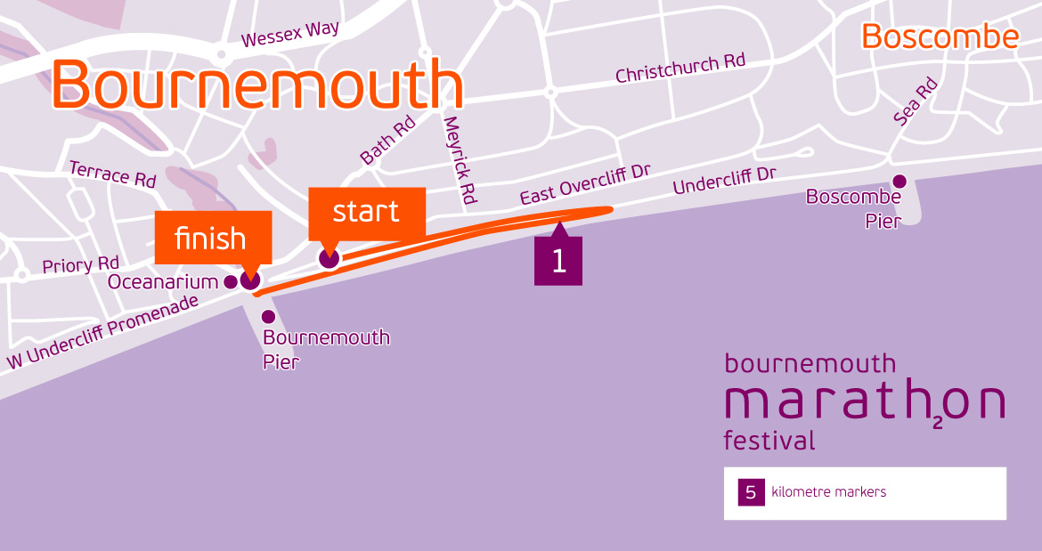 Bournemouth 2K Junior route