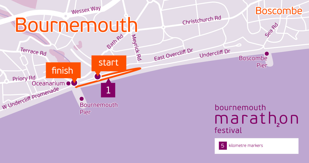 Bournemouth Junior 1.5K route
