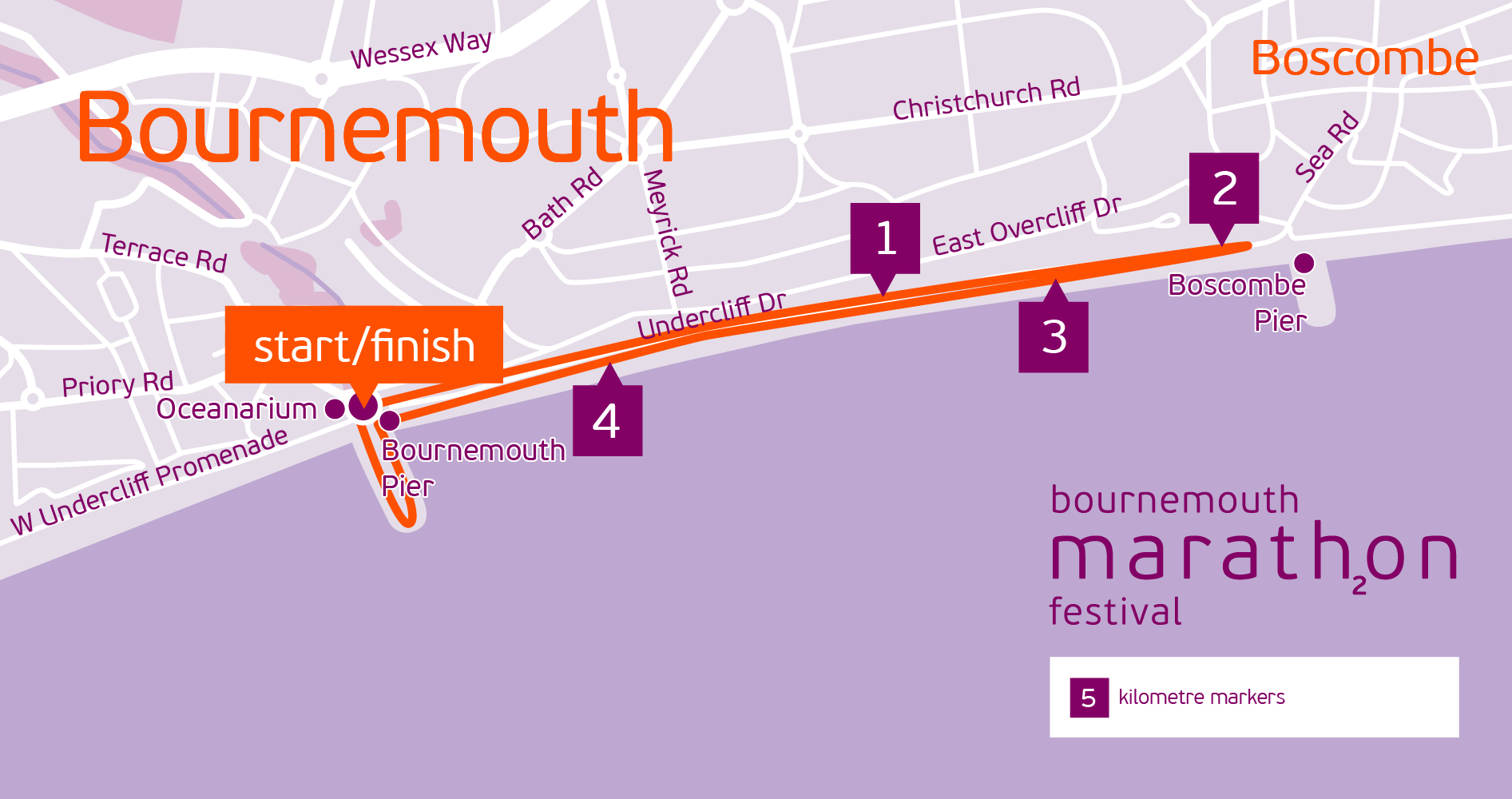 BMF Junior 5K route