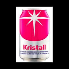 Kristall Límónu og jarðarberja 0,33 l kassi