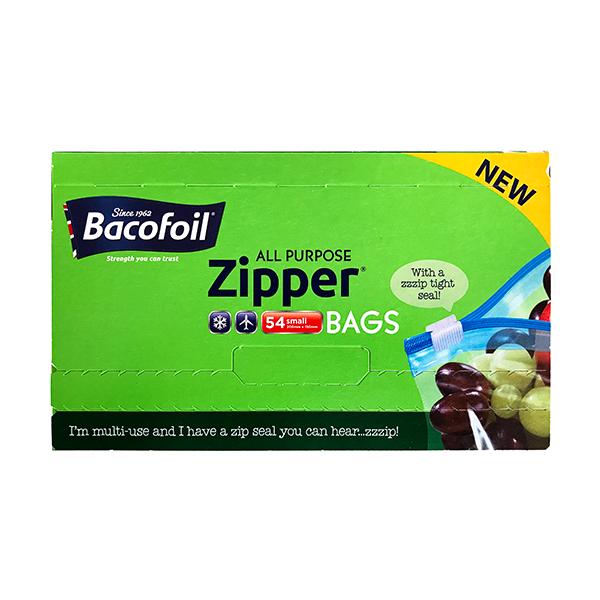 Bacofoil Zipper margnota plastpokar litlir