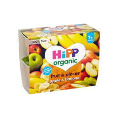 Hipp organic fruit & pieces apple and banana